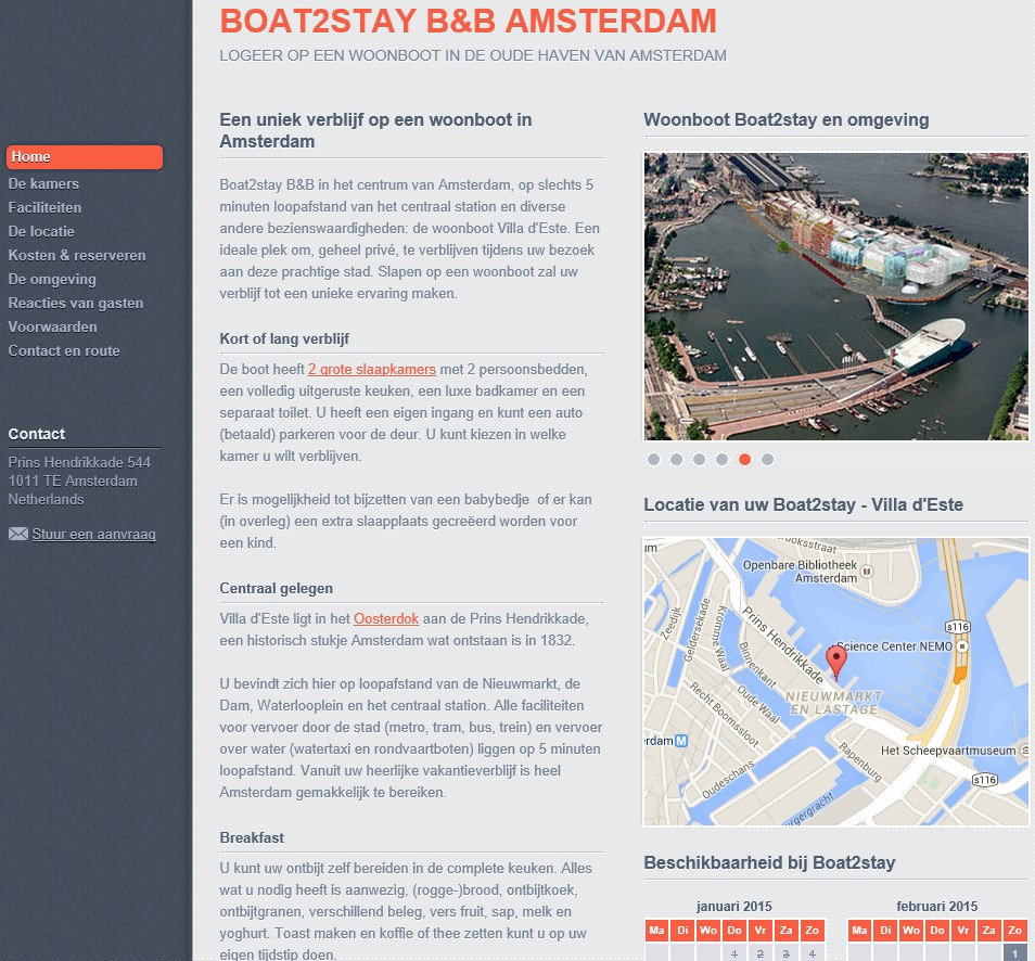 bed and breakfast boat 2 stay amsterdam