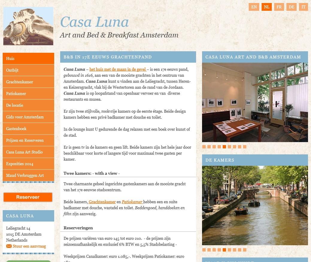 bed and breakfast casa luna amsterdam
