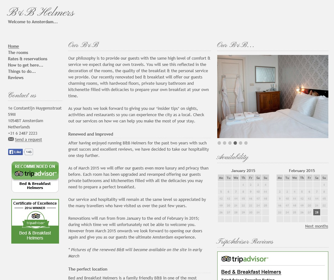 bed and breakfast amsterdam Helmers